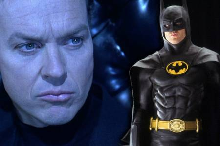 Michael Keaton cerca de  interpretar a Batman en la película de Flash